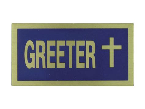 Exceptional Church Offering Bags #2: Church-greeter-blue-gold-badge-pack-of-6-religious-80505-788200805051-13807.jpg