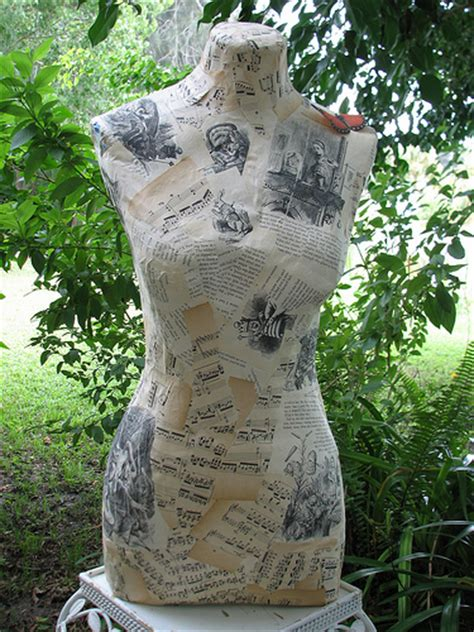 How To Make A Paper Mache Mannequin - paper mache dress form flickr photo