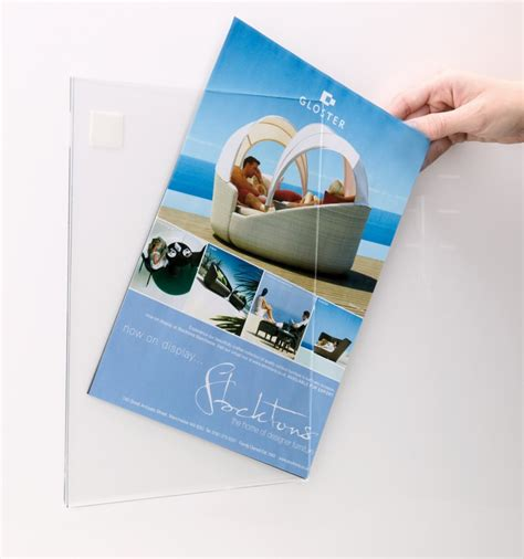 Acrylic Poster acrylic poster sleeve literature holder poster display