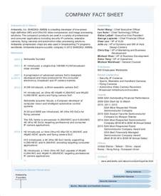 event fact sheet template fact sheet template 19 free sle exle format