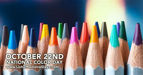national color day national color day list of national days