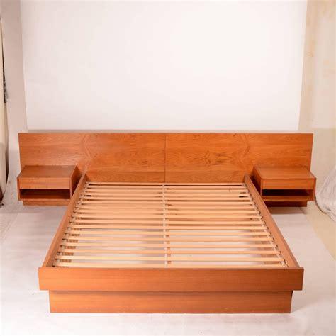 Teak Platform Bed Modern Size Platform Bed In Teak For Sale At 1stdibs