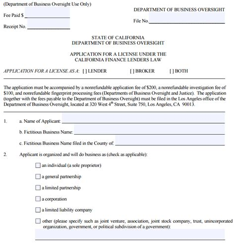 Lic Loan Application Letter Getting A California Lender S License Debanked