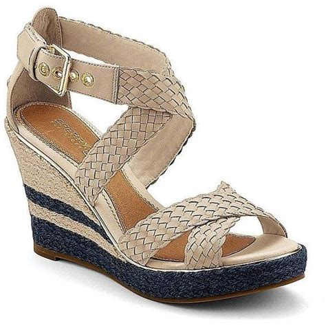 sperry top sider harbordale wedge sandal my shoes style