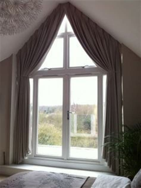 curtains triangular window google search window curtains window and tops on pinterest
