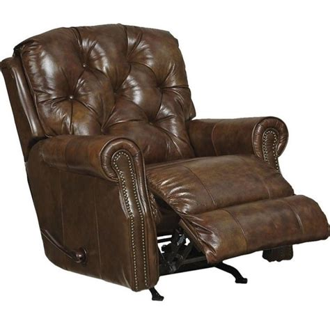 catnapper recliners reviews catnapper davidson leather rocker recliner in timber