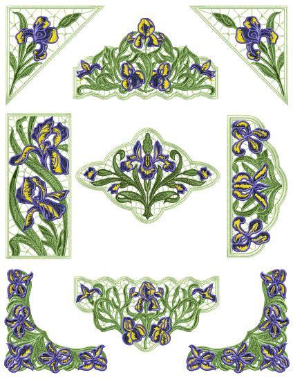 embroidery design lace abc designs iris lace 7 standalone machine embroidery