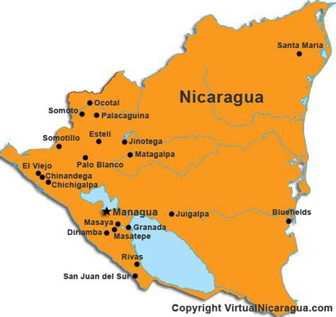 nicaragua on a map nicaragua kapital karte