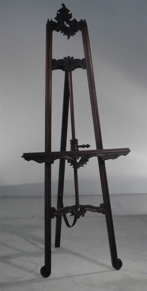 mahogany decorative easel town country event rentals