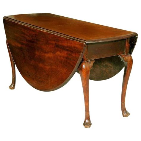 Large Drop Leaf Table Large Mahogany Oval Drop Leaf Table Trifid For Sale At 1stdibs