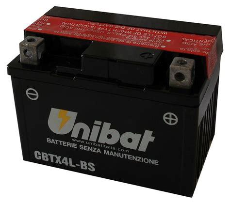 Motorrad Batterie Unibat by Cbtx4l Bs 12v 4a необслужваем Agm Unibat Moto