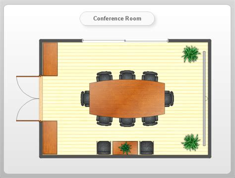 meeting room floor plan conceptdraw sles floor plan and landscape design