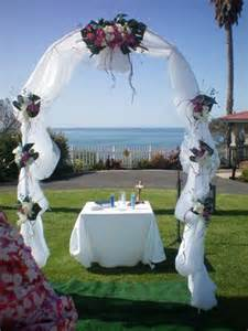 39 tall by 5 39 wide white wedding arch embellished with silk flowers