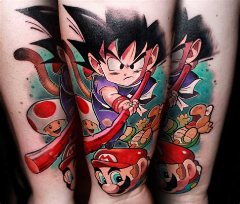 dragon ball tattoo designs vs mario by lehel nyeste