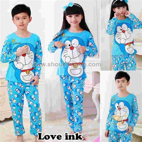 Piyama Pajamas Baju Tidur Doraemon lovia shop piyama anak doraemon happy fullprint