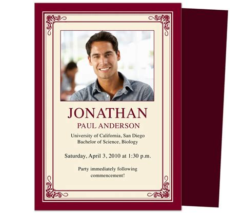 senior announcement templates 46 best printable diy graduation announcements templates