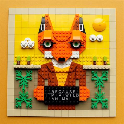lego painting quot because i m a animal quot a fantastic mr fox lego painting