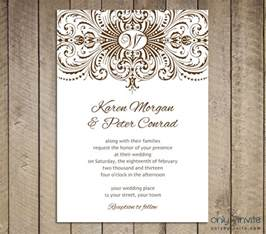 free printable wedding invitations templates best template collection