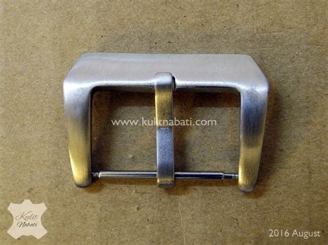 Pin Buckle Jam Tangan Silver Stainless Steel Brushed Finishing buckle jam str 026 kulitnabati bahan kulit nabati