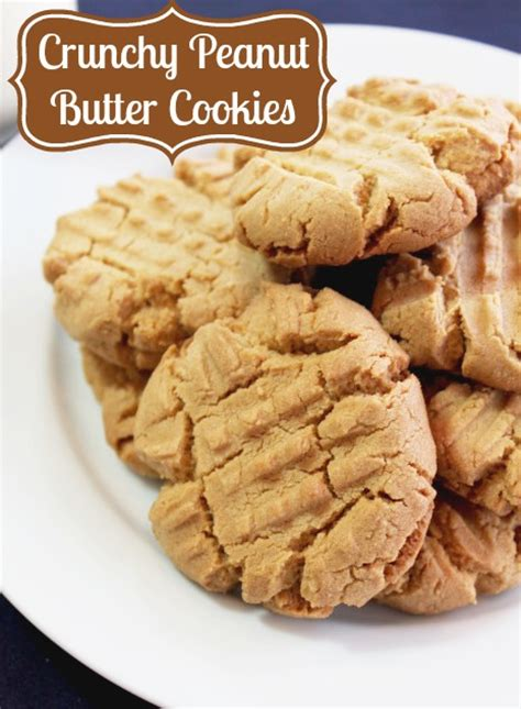crunchy peanut butter cookies the love nerds