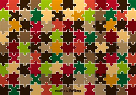 puzzle pattern ai autumnal jigsaw pattern vector download free vector art