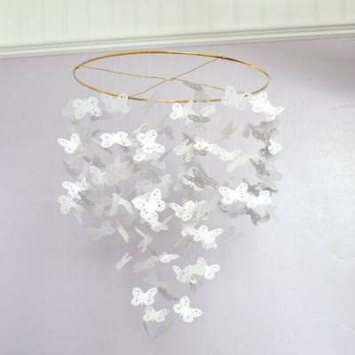 How To Make A Paper Butterfly Mobile - butterfly chandelier mobile decorating with paper tip