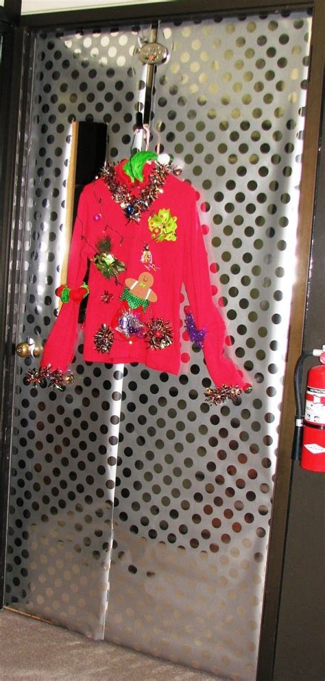 ugly sweater door christmas door decorations pinterest