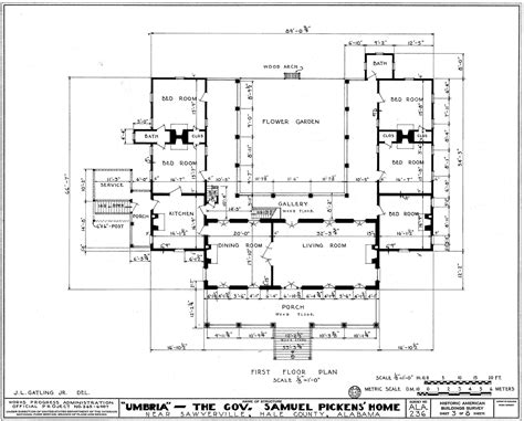 free architectural plans for houses file umbria plantation architectural plan of main floor