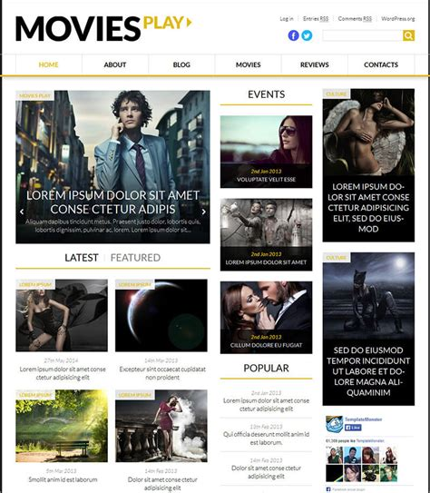 news html5 template 20 news website html5 templates free premium themes