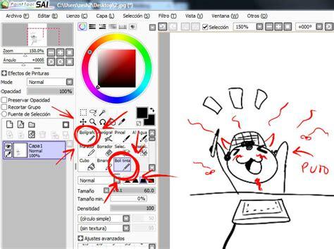tutorial de dibujo en paint tool sai tutorial sai paint tool arte taringa