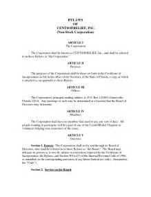 Bylaws Template For Corporation by Best Photos Of S Corporation Bylaws Template Corporate