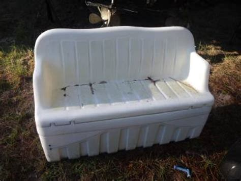 used boat bench seats boat cooler bench seat in good shape