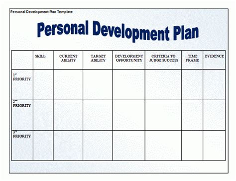 11 Personal Development Plan Templates Free Word Templates Personal Development Plan Template Word