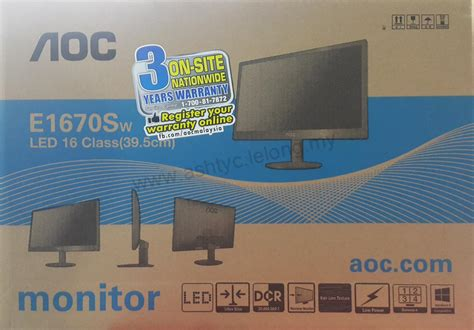 Aoc Led Monitor 15 6 E1670s Black aoc usb powered led monitor 15 6 e end 4 25 2017 1 28 pm
