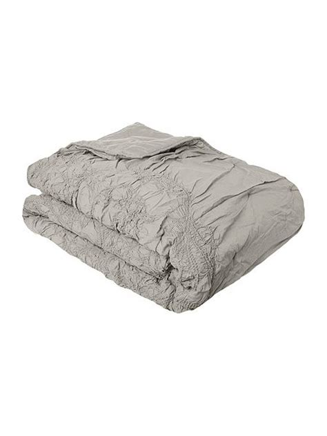 shabby chic bedspread shabby chic soft grey voile bedspread house of fraser