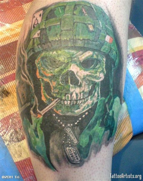 army skull tattoo designs skull on leg tattooimages biz