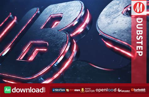 dubstep element 3d logo reveal template free download