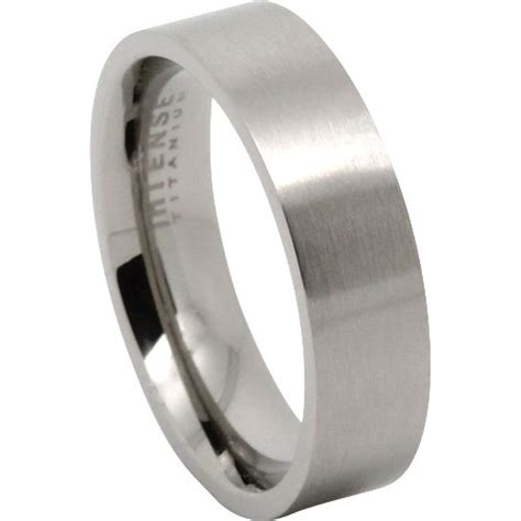 stunning flat edged men s titanium wedding ring