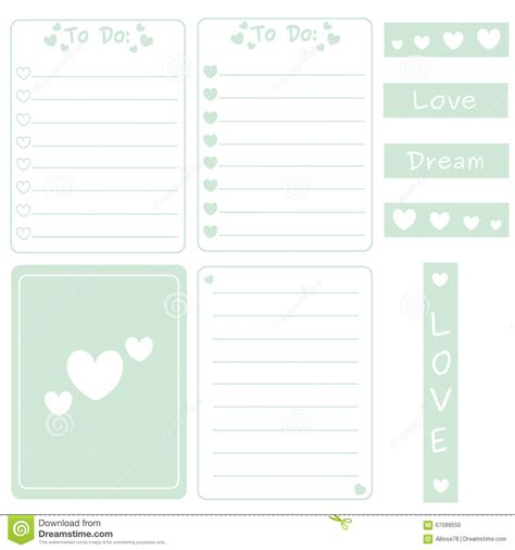 printable decorative note cards cute mint color set of printable template for cards notes