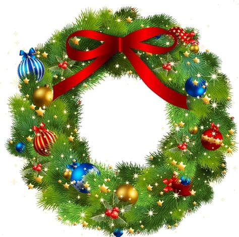 christmas wreath free vector in adobe illustrator ai ai