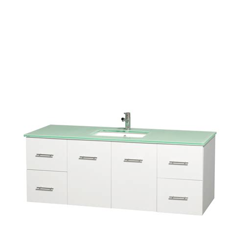 Green Glass Vanity by Wyndham Collection Wcvw00960swhggunsmxx Centra 60 Inch