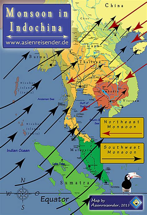 monsoon asia map monsoon and rainy season in southeast asia by asienreisender