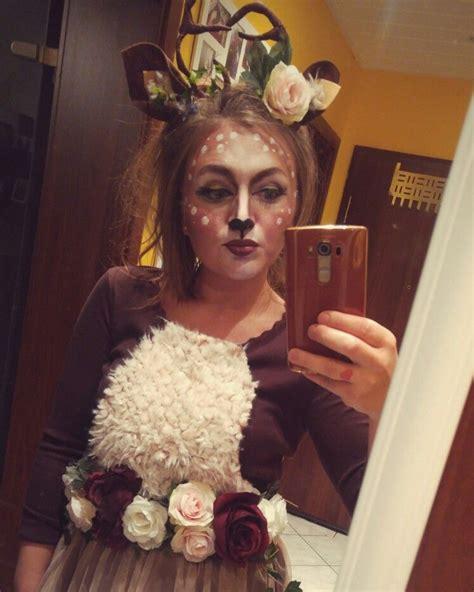 kostuem reh geweih diy karneval roses bambi