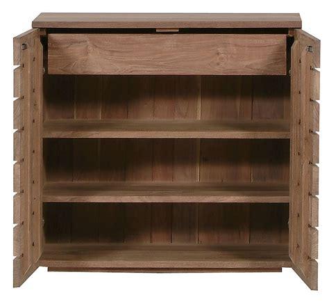 Ethnicraft Horizon Teak shoe rack / sideboard