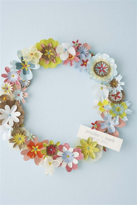 A Paper Wreath - diy paper flower wreath hello lucky