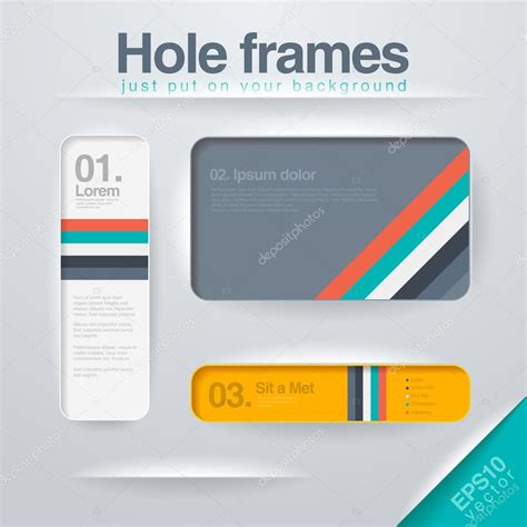 html layout using frames vector design frames template use for infographics web