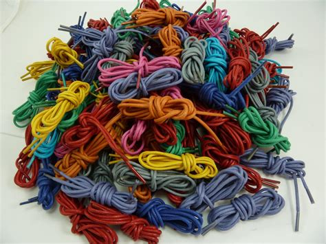new pair cotton waxed colored dress shoelaces laces 30 quot in 20 color ebay