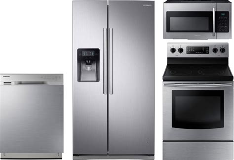 samsung kitchen appliances samsung 4 piece kitchen package with ne59j3420ss electric