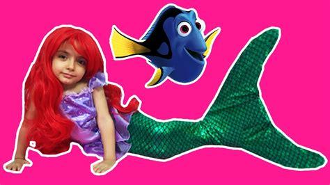 princess ariel finds dory   mermaid surprise