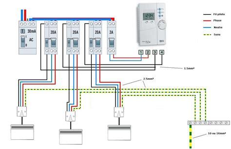 Programmateur Chauffage Electrique Fil Pilote 4369 by Fil Pilote 2 Ou 4fils Forum Electricit 233 Syst 232 Me D
